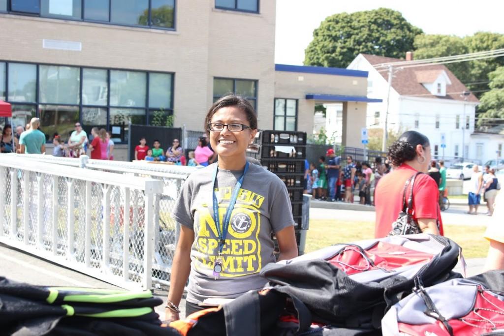 Volunteering at Blackstone Valley Prep Academy