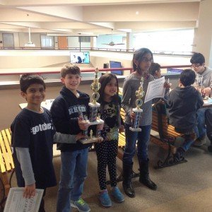 BVP Scholars with their trophies!