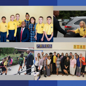 A collage of photos of scholars and teachers at Middle School 2
