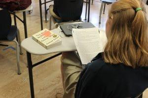 BVP scholar reading class notes