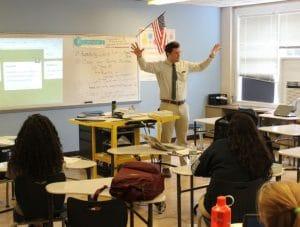 BVP teacher Everett Epstein leading class