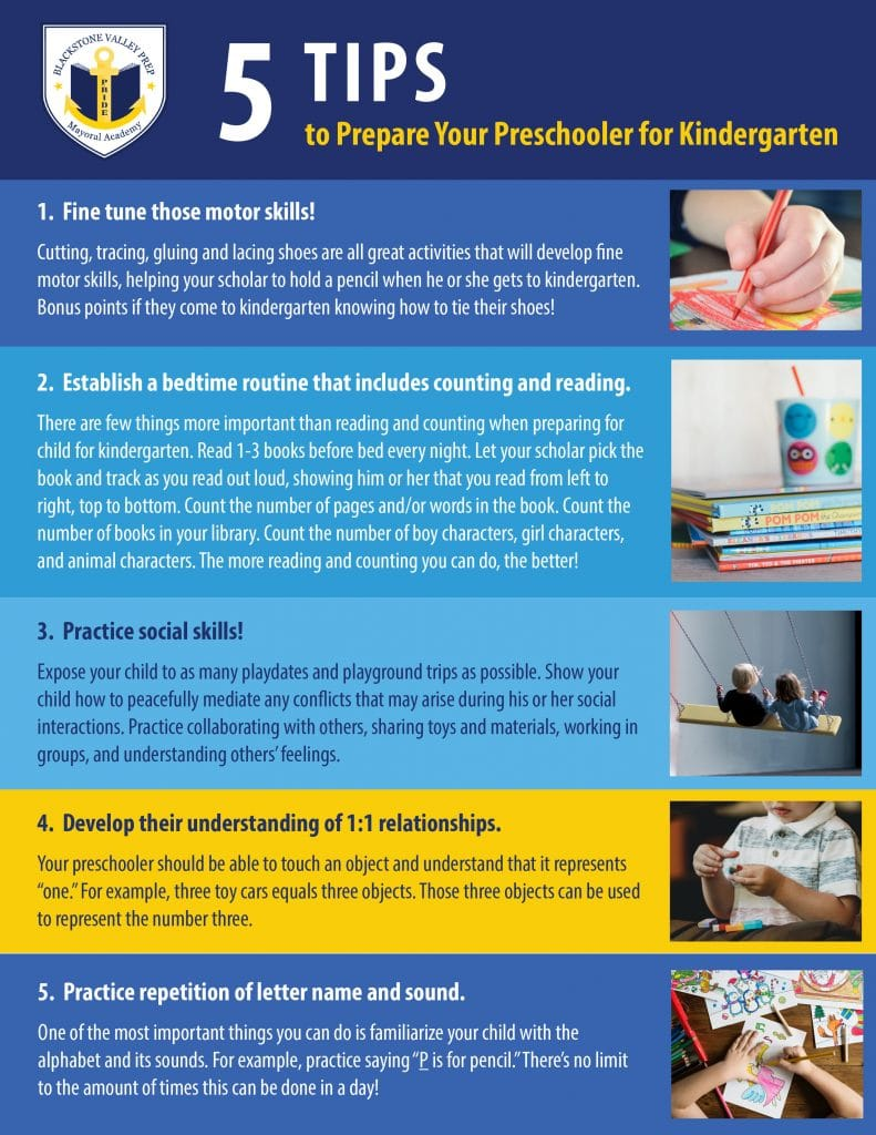 5 Tips to Prepare Your Preschooler for Kindergarten Graphic