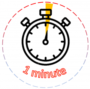 Clip art of an alarm clock with the words 8 minutes
