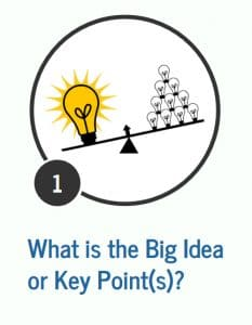 What is the big Idea or Key Points Graphic