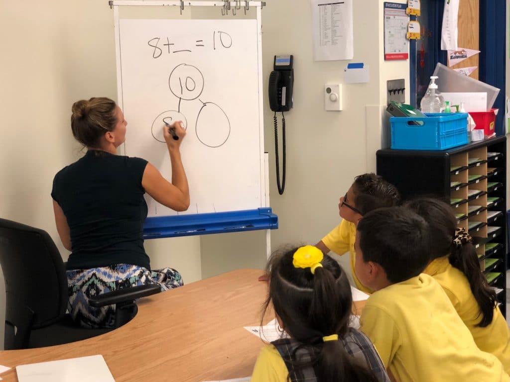 Allie Perras teaching a lesson