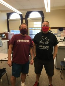 BVP staff wearing masks