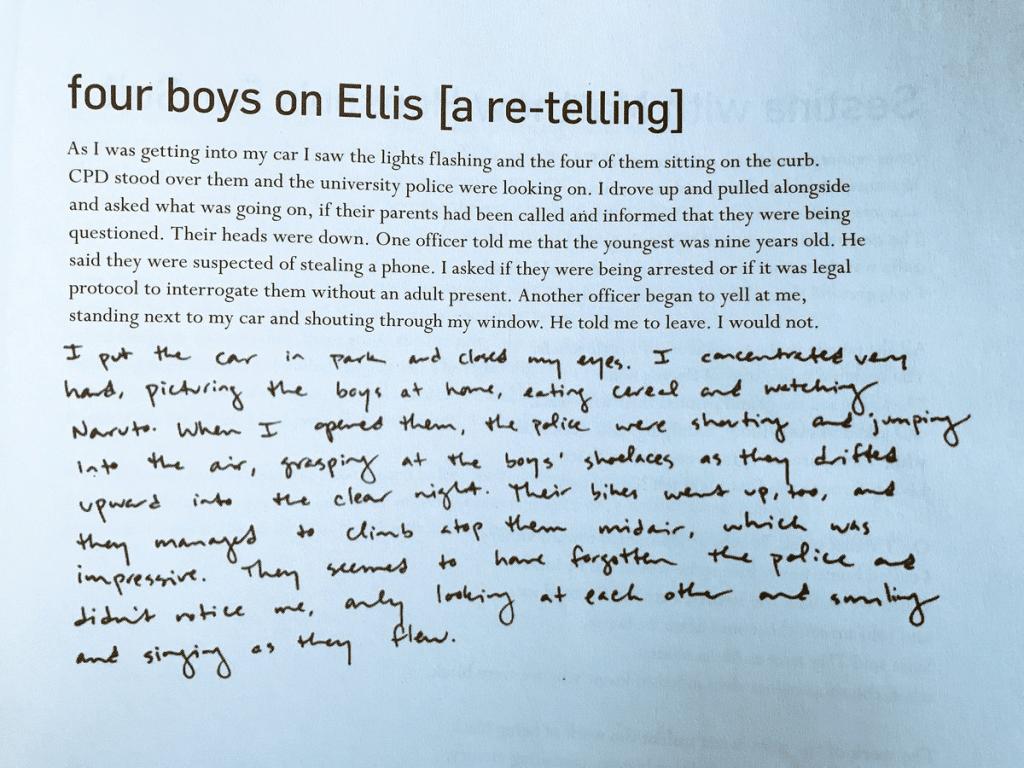 four boys on Ellis text