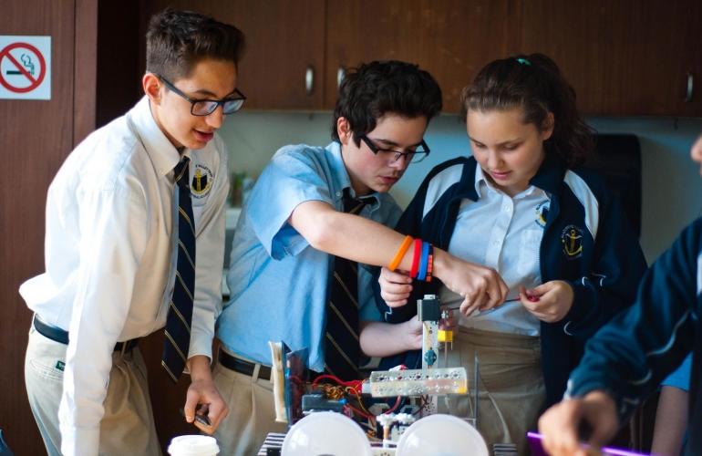 High school at Blackstone Valley Prep Academy