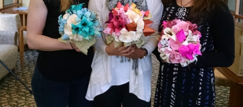 Origami Bouquets for Rhode Island Hospital Patients