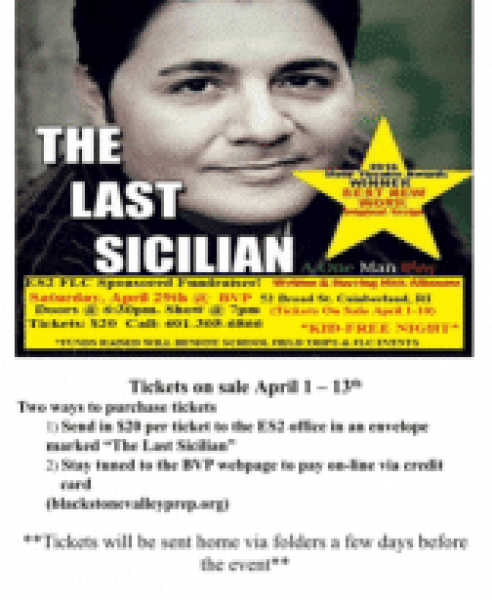ES2 FLC Event Ticket: The Last Sicilian, A One Man Play (April 29th)